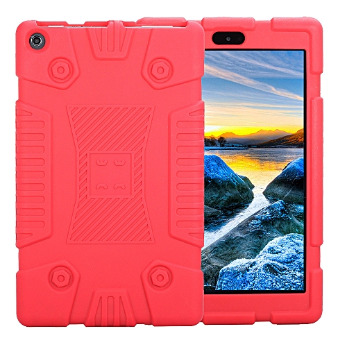 Hiamok For Amazon Kindle Fire HD8 2017/2018 Universal Case Soft Silicone  Rugged Cover