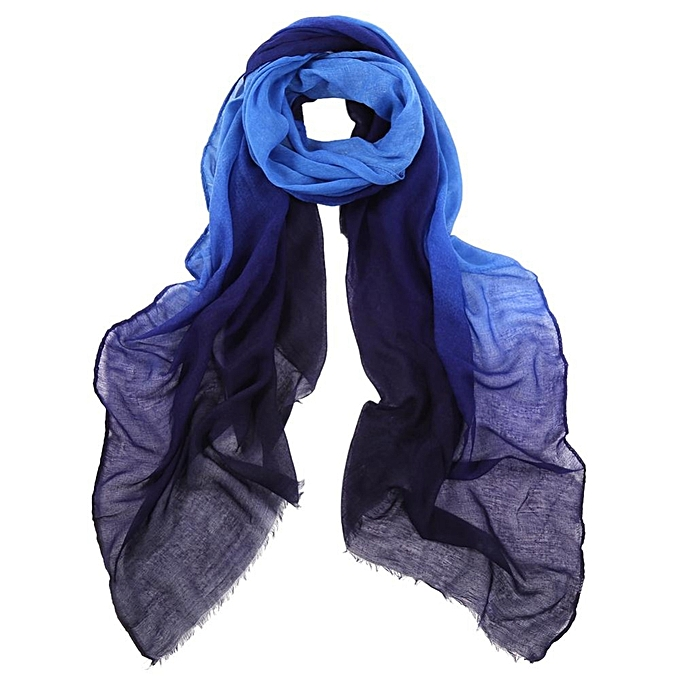8c191c1cd4 Fashion Winter Scarves Women Lady Gradient Color Ombre Scarf Voile Shawls  Pashmina 3#