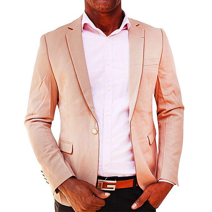 Blazers Jumia: Men's Slim Fit One Button Suit Blazer Coat -Brown
