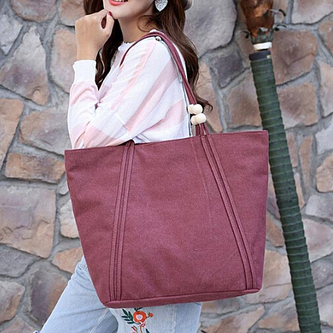 ce0529e59 Haimok Women Big Casual Tote Shopping Bag Lady Canvas Handbag Shoulder Bags  Hot Pink