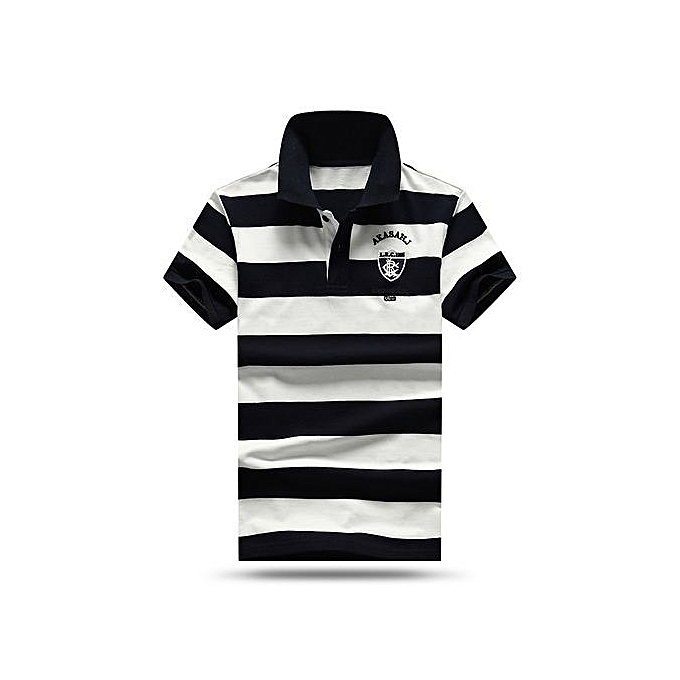 6f886d9c High quality men polo shirt new summer casual striped cotton mens polo  Contrast Color polo shirts