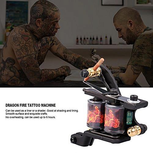 Professional 10 Warp Coil Tattoo Machine Dragon Fire Pattern Tattoo Gun  Shader Liner
