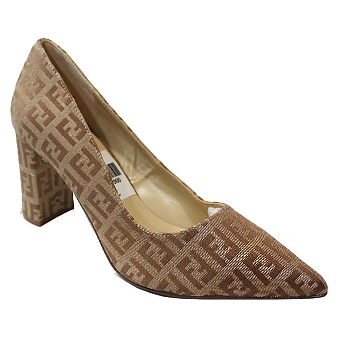 020ba01c80d Generic Pointed Toe Block Heel Shoes - Brown