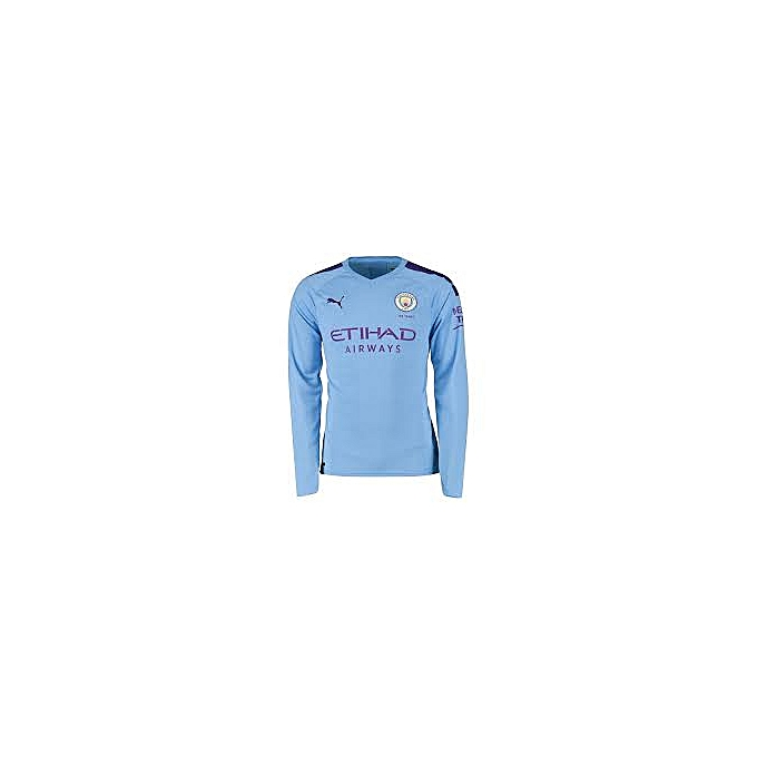 new product 5521b f9386 Replica Manchester City 2018/19 Home Jersey, Long Sleeve - Blue