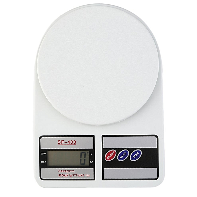 4f337c66d603 Digital Kitchen Scale Electronic Balance Weight LCD Display Tare Function  White 5kg/1g