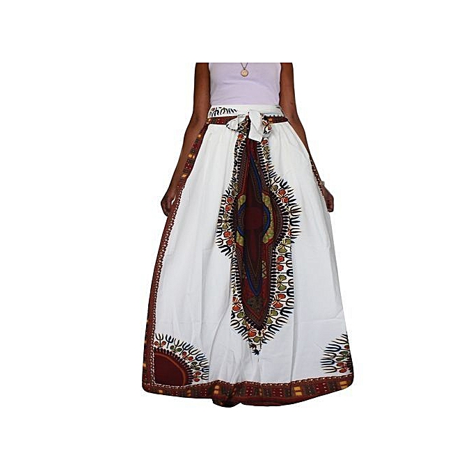 4753ca6521 Women Non-transparent Satin Long Skirt Vintage Retro Floral Print High  Waist Pleated Flawhite Maxi