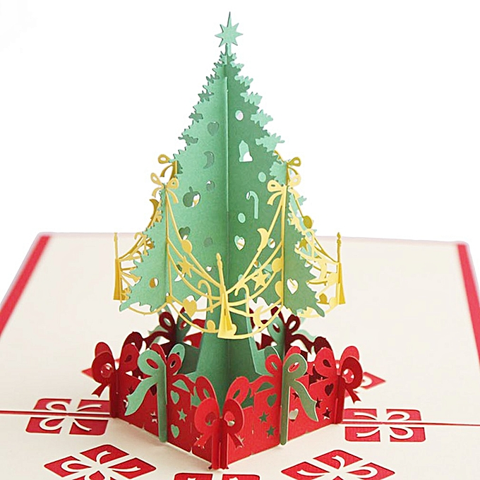 Buy Allwin Handmade Christmas Cards 3d Pop Up Christmas Tree