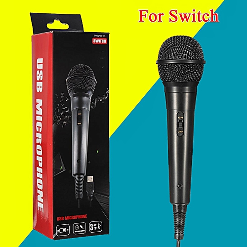 USB Wired Microphone Mic For Nintendo Switch PS4 WiiU Game Controller PC