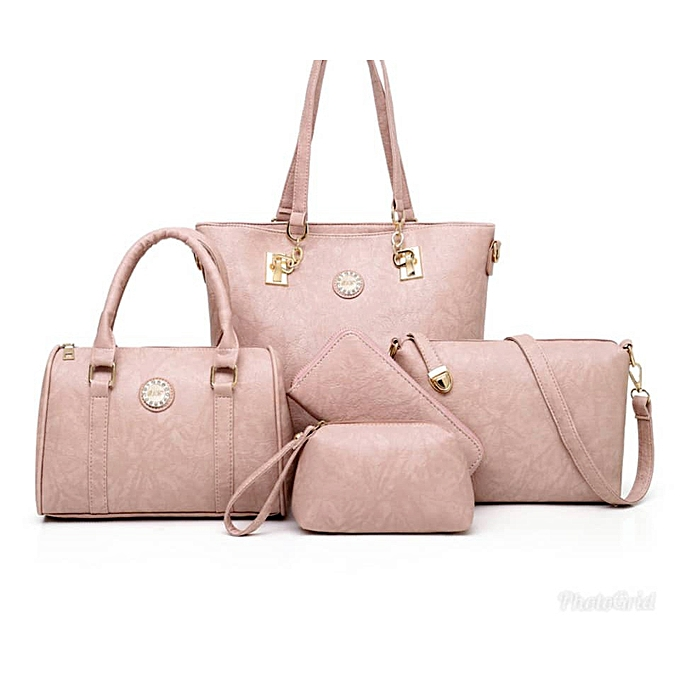 63ccfc67ddc Ladies' Designer Purses and Handbags Set, Female Satched Shoulder Bags,  5pcs Clutch Wallet - Pink