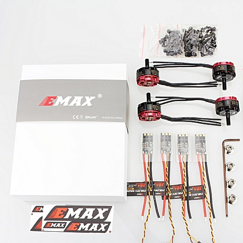 EMAX RS2205 2300KV 2600KV RaceSpec Brushless Motor With 3-4S 30A BLHeli  lightning ESC Power Combo for RC Drone-2600KV