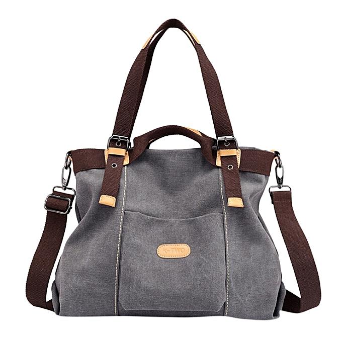 9465ad426e Hiamok _Canvas Handbag Casual Purse Tote Bag Top Handle Handbags Crossbody Bags  Women