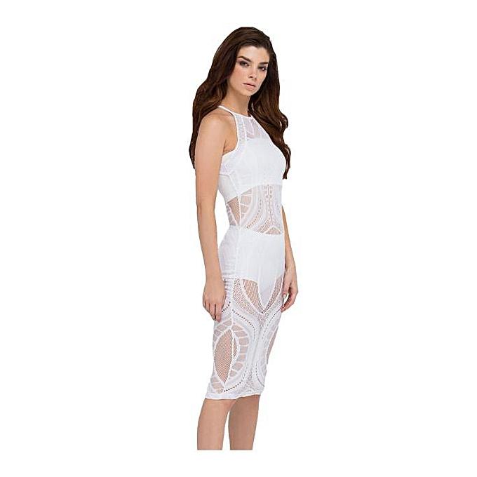 4eab89a9ef Sexy Women sleeveless Bandage Bodycon Mesh Club Party Cocktail Mini Dress  Lot