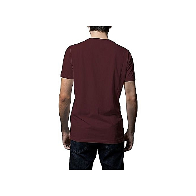 1b215757e8f43 ... Other Round neck Plain T Shirt Maroon Jumia Uganda