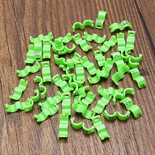 4mm 1-50 Numbered Clip Snap Bird Ring Leg Bands Parrot Finch Canary Duck  Grouped Green