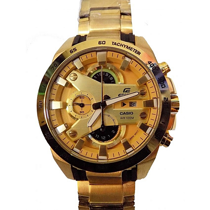 Stainless Steel Analog Wrist Watch - Gold  df0fc5c92e79