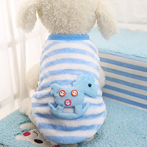 4be60e37a8db Buy Allwin Winter Flannel Cute Pattern Dog Cat Sweater Small Puppy Pet  Clothes Cat Coat blue & white XS online | Jumia Uganda