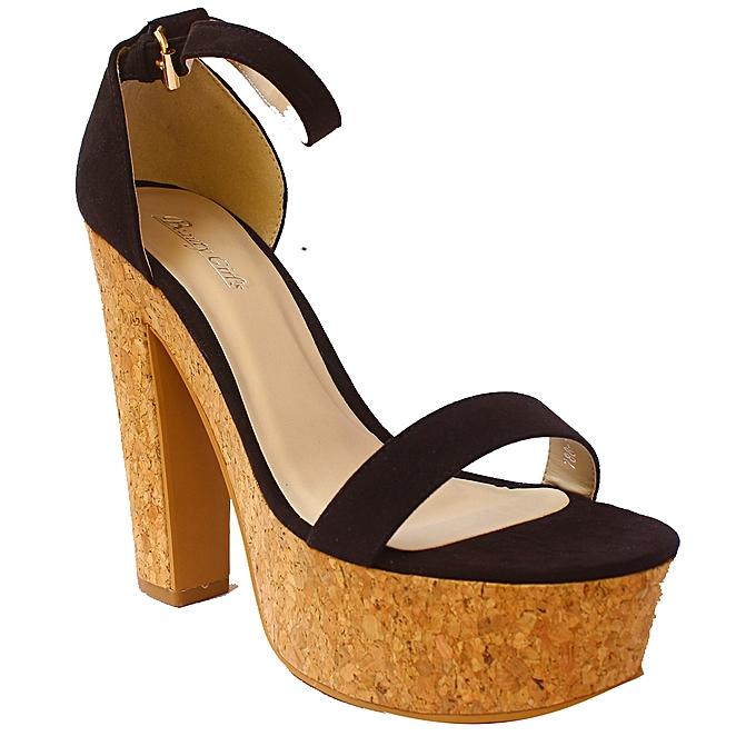 df9f2a861486e BEAUTY GIRLS Beauty Girls Ankle Strap Block Heel Sandals - Black ...