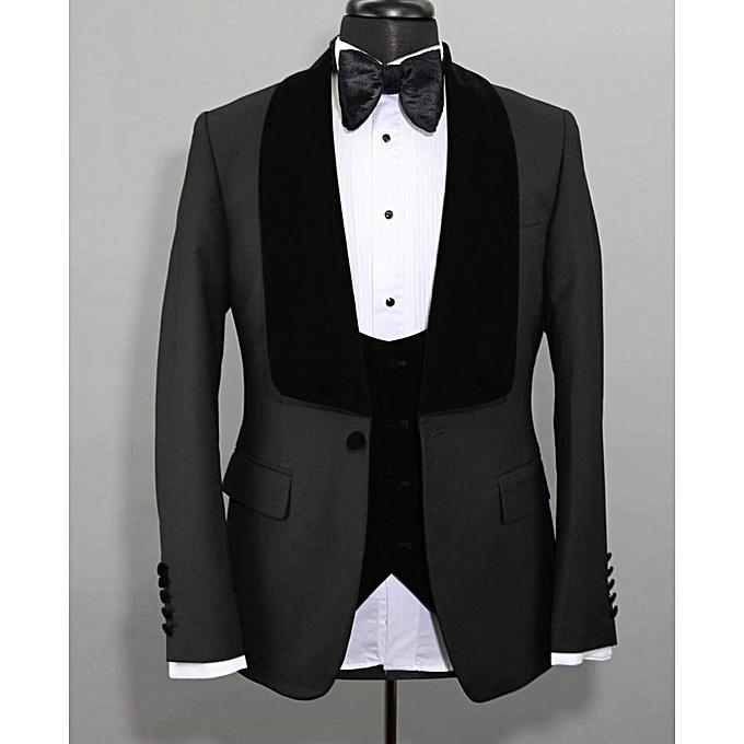 37cc34958d Buy Generic Men's 3 Piece Formal Tuxedo Suit - Black online | Jumia ...