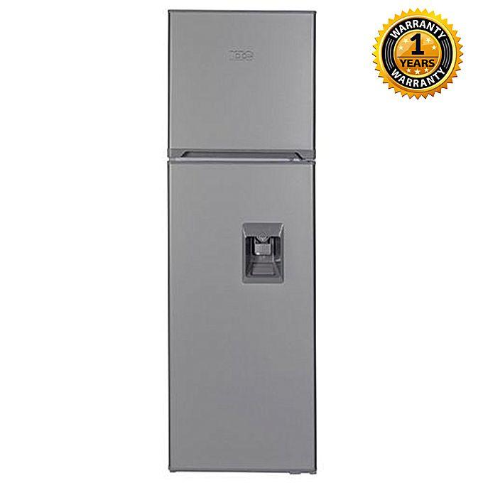 Kic Ktf528 255l 2 Door Top Mount Freezer Fridges With Water Dispenser Grey Jumia Uganda