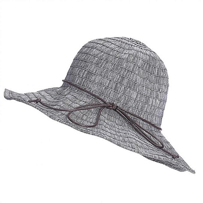 1ff92a88f3b4ab Women Fisherman Hat Vacation Beach Hat Lady Derby Cap Wide Brim Floppy Fold Summer  Sun Straw