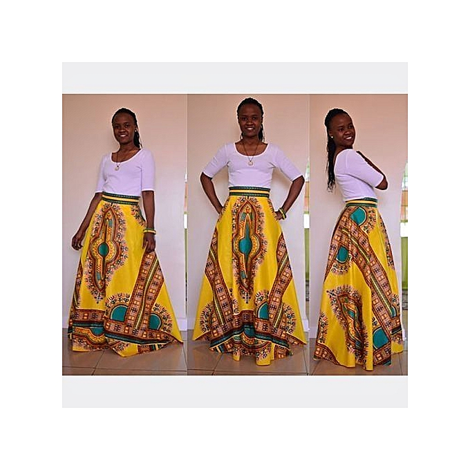 2b3464e67c Women Non-transparent Satin Long Skirt Vintage Retro Floral Print High  Waist Pleated Flared Maxi