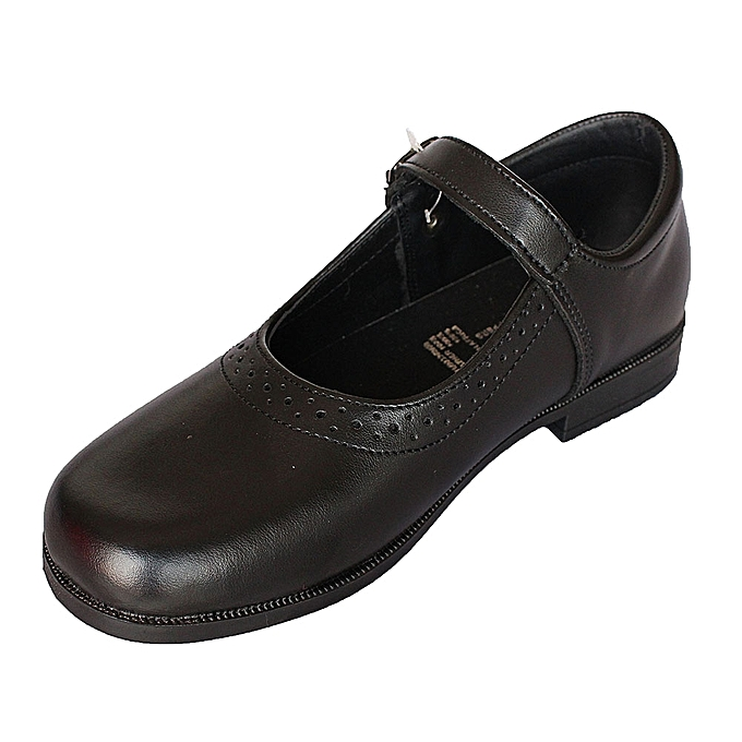 Bata Black School Shoes With Velcro