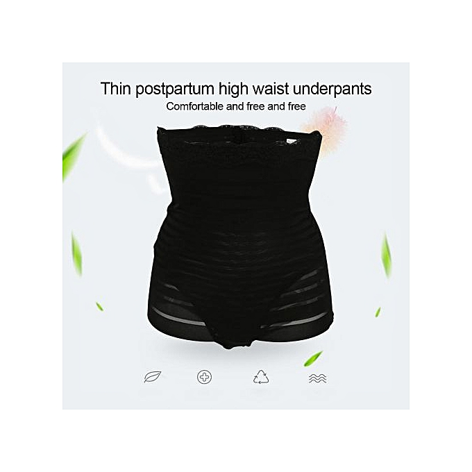 Ultra-thin Postpartum Panties High Waist Slimming Waist Belly Shaper Women  Underwear