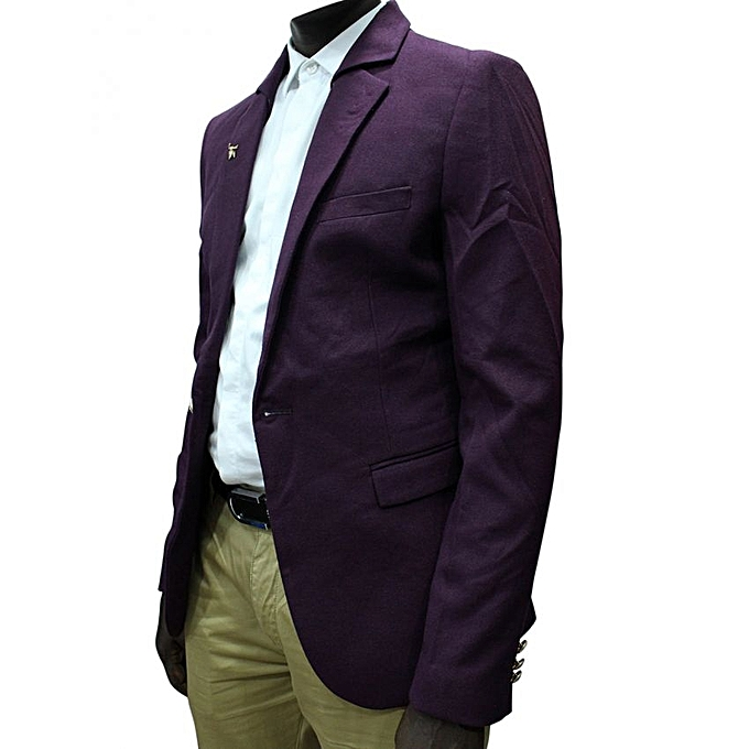 Buy Generic Long Sleeve Blazer - Purple Online