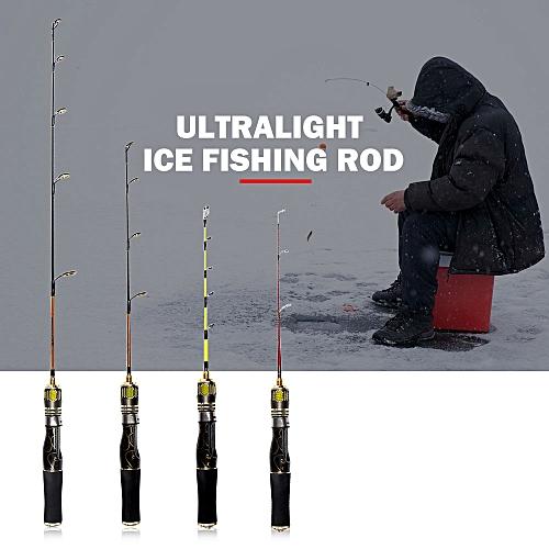 Winter Fishing Hard//Soft Ice Fishing Rod Detachable Pole EVA Handle 2 Sections