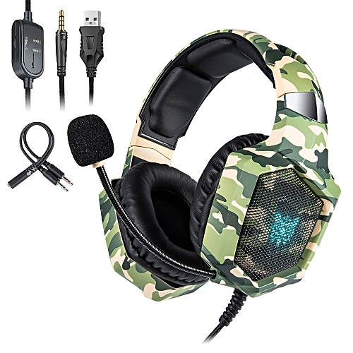 ONIKUMA K8 3 5mm Gaming Headset Stereo Over-ear Headphones RGB LED Lights  Noise-canceling Microphone Volume Control for PS4 New Xbox One PC Computer