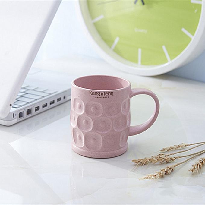 a521949534d (Xiuxingzi) HOT Travel Mug Office Coffee Tea Water Bottle Cups Straw Wheat  Plastlc Cup