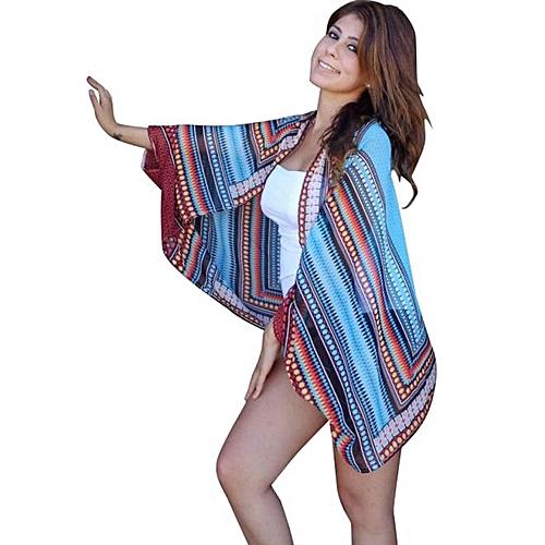 a7d3c743d18e1 Buy Generic Beach Cover Up Bikini Leopard Summer Dress Swimwear Bathing  Suit Kimono Tunic online   Jumia Uganda