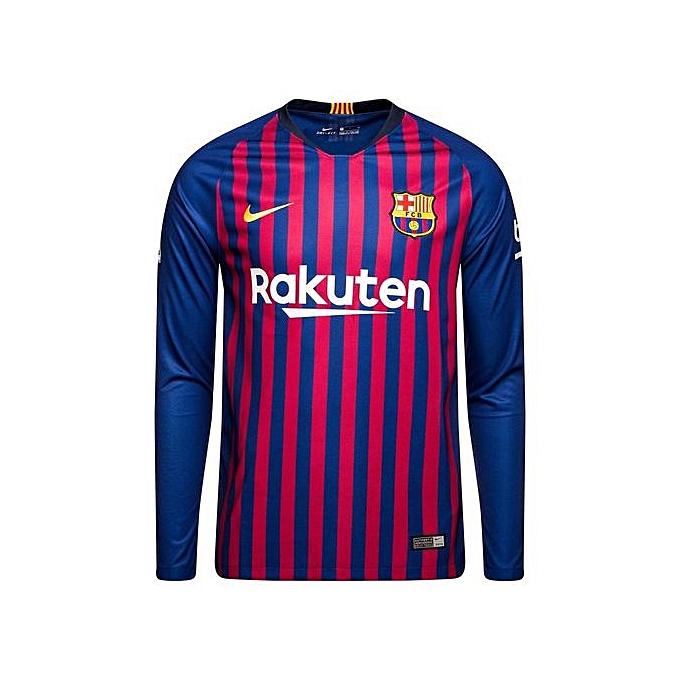 new style 7edb5 5daac Barcelona Home Jersey Replica 2018/19 - Blue,Pink