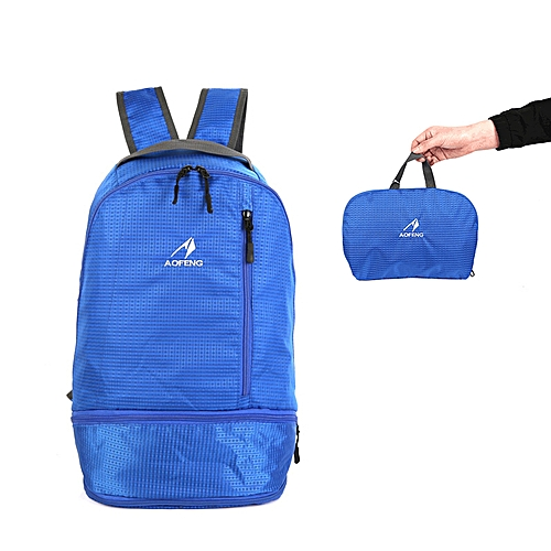 aab110ff995f 20L Nylon Outdoor Bag Folding Backpack Waterproof Scratch Proof Ultralight  Camping Hiking Travelling
