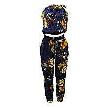 0e5d829f8203 Floral Two Piece Jumpsuit - Multi-Color.