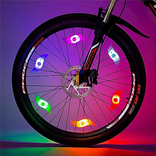 Bike Spoke Light 6PCS Bike Wheel Light Tyre Wire Bike Safety Alarm Light