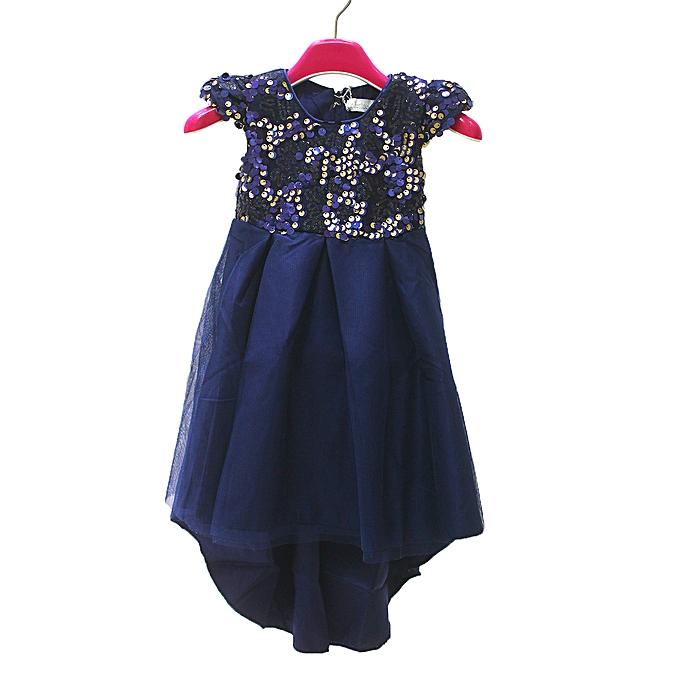 2ac4405770c1 Buy Generic 4-12Yrs Girl's Party Dress - Navy Blue online   Jumia Uganda