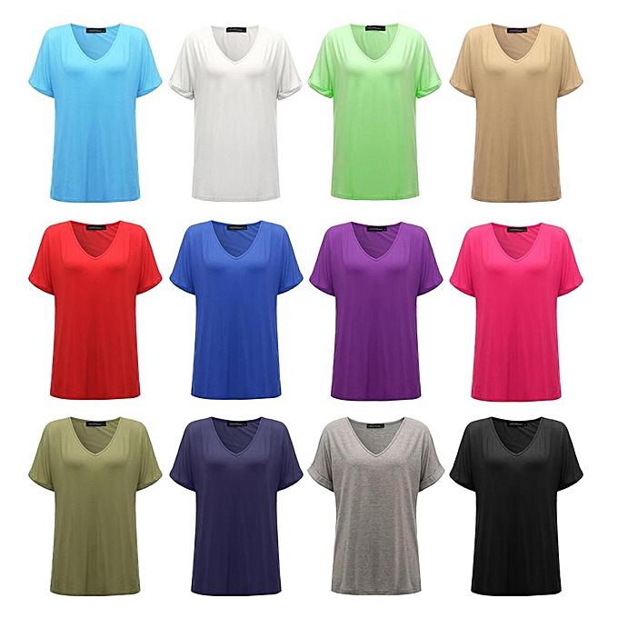 51c533261f6cc ... Zanzea Fashion Summer T Shirt Women New Short Sleeve Loose Casual Tops  Tees Plus Size V ...