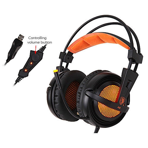 be62136d5ee SADES A6 Gaming Headphone with Mic USB Professional Over Ear Stereo Gaming  Headset with LED Noise