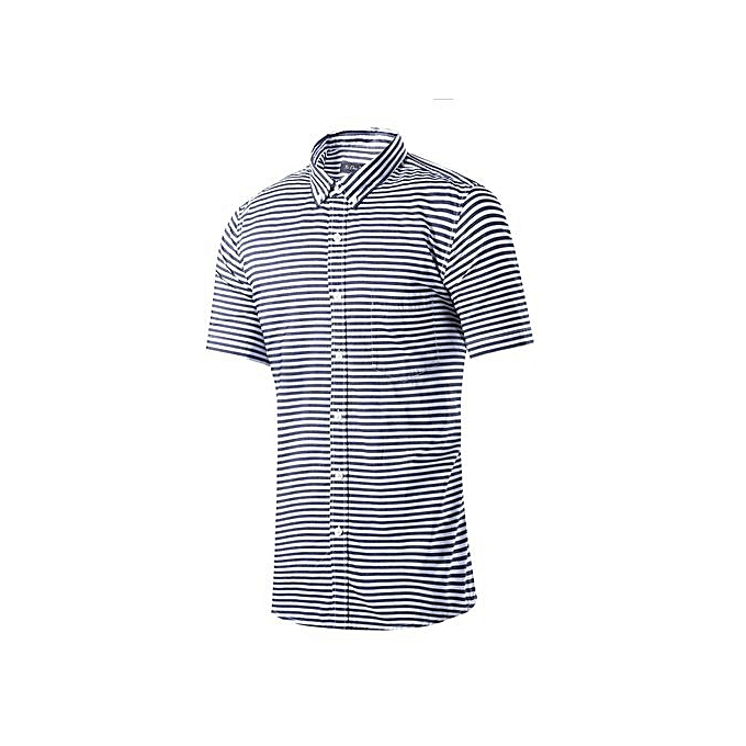 ea15e75cdc Summer Men's Striped Shirts Short Sleeve Shirts Men Brand Clothing Male  Shirts Social Slim Fit Cotton