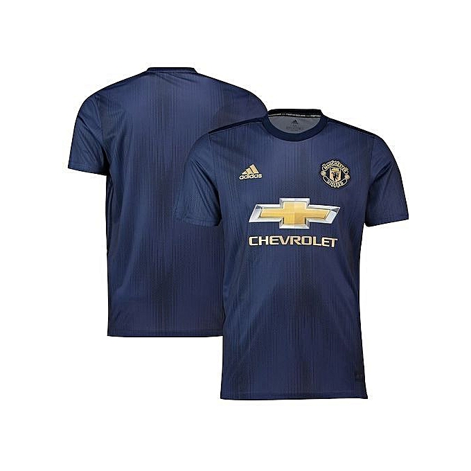 pretty nice d11c8 12ece Replica Manchester United Football Club 2018/2019 Replica Away Jersey -  Navy Blue