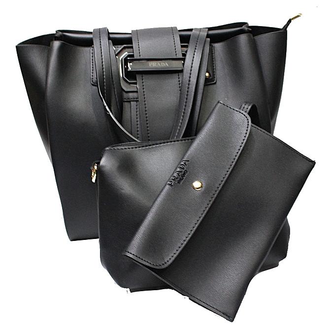 c851b91a435ead ... cheap prada 3 in 1 tote handbag set black 902e8 f10a7