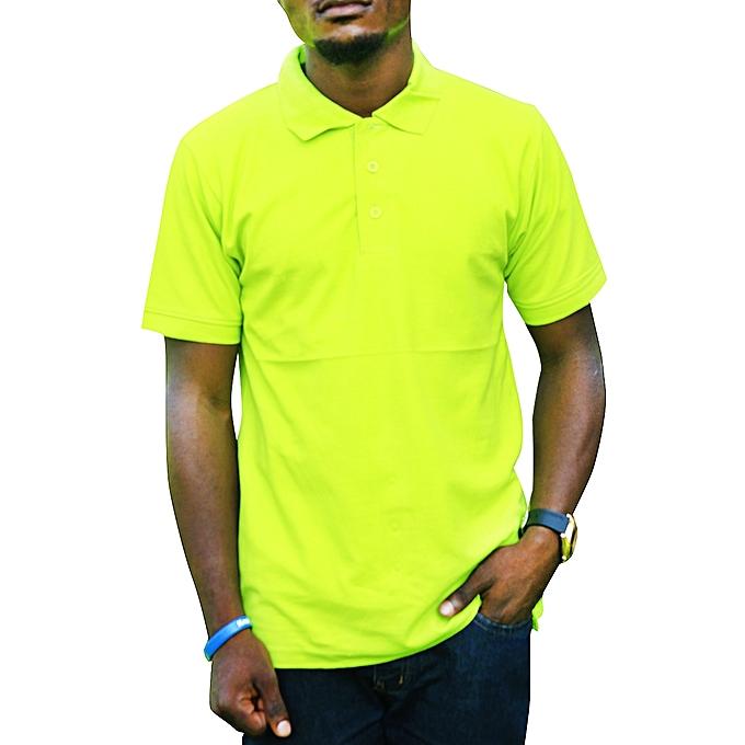 6652ccdb131 Buy Generic Men's Polo T-Shirt - Lemon Green online | Jumia Uganda