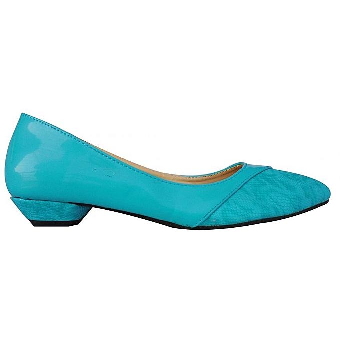 1e73cfba325 Pointed women s low Heel-Blue