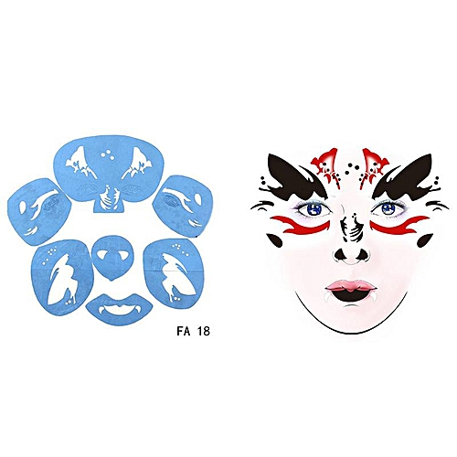 Supply golden phoenix body painted face template