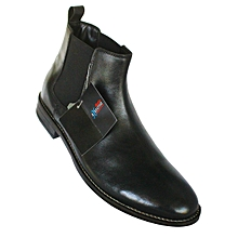 88e3ee6b5 Bata 804-6191 Men  039 s Ankle Leather Boots - Black