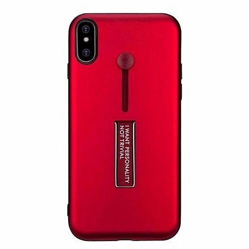 low priced bcf3a c6414 Nkobee Phone Case For iPhone X With Finger Ring Holder Hard PC - Red