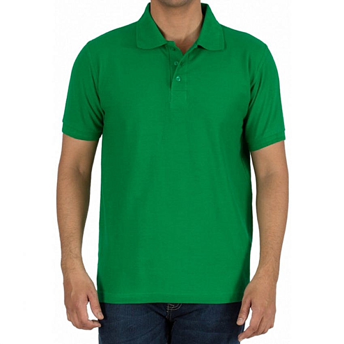 - Plain Green Men's Designer Polo T-Shirt | Jumia Uganda