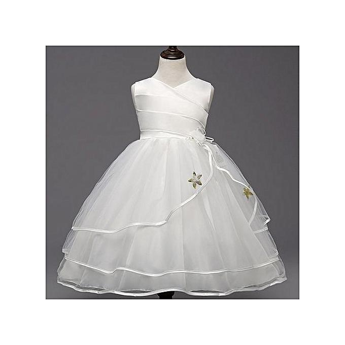 96e4b9f0d Flower Girl Dress Summer Clothes Girl 2018 Baby Girl Wedding Veil Dresses  Kids's Party Wear Costume