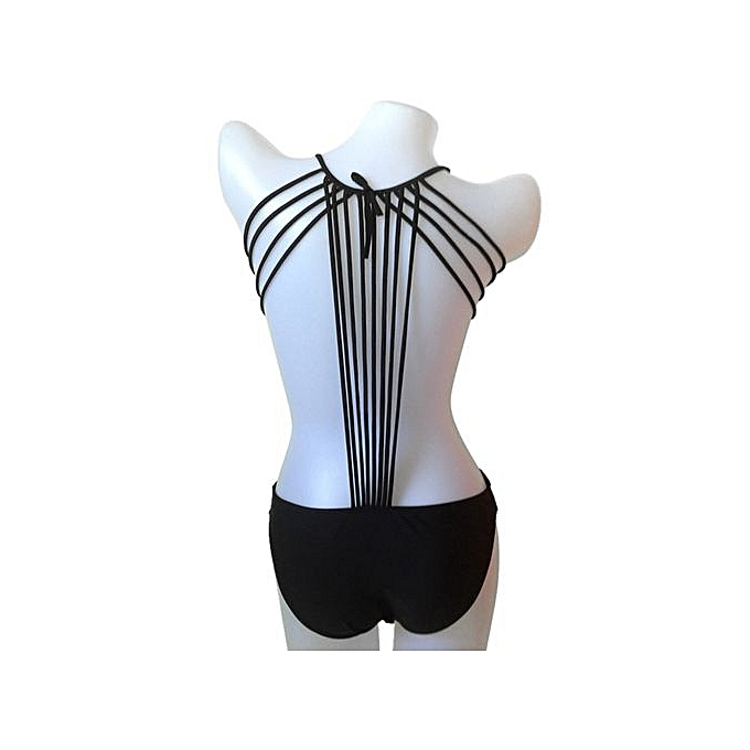 432cc258d4b5 Buy FASHION Fashionable Tie-Up Solid Color One-Piece Swimwear For ...